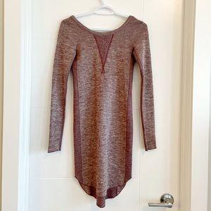 Aritzia Wilfred burgundy wool sweater dress